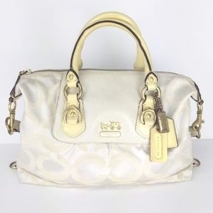 Coach Bag h0868-12947 Beige and Light Yellow Strap